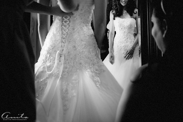 wedding dress button detail photograph by Anita Martin