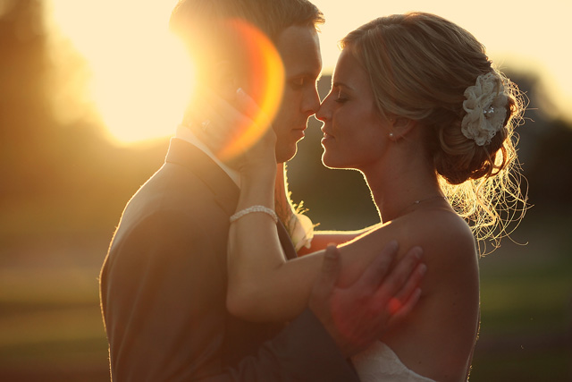 backlit wedding photograph by Jen Bebb