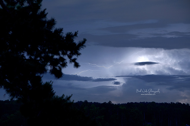 thunderstorm and lightning photograph from a personal photography project by Beth Wade