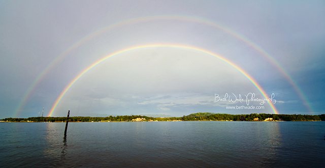 full double rainbow photograph from a personal photography project by Beth Wade