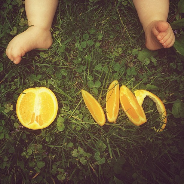 orange slices and baby toes instagram photo by for_the_love_of_it_all