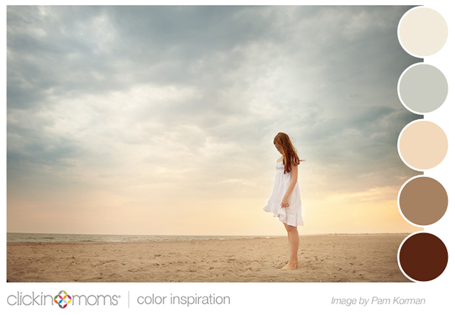 soothing beach and sky color inspiration from Pam Korman