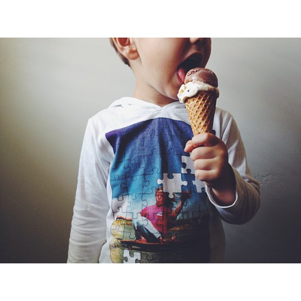 child eating ice cream instagram picture by kdokoza
