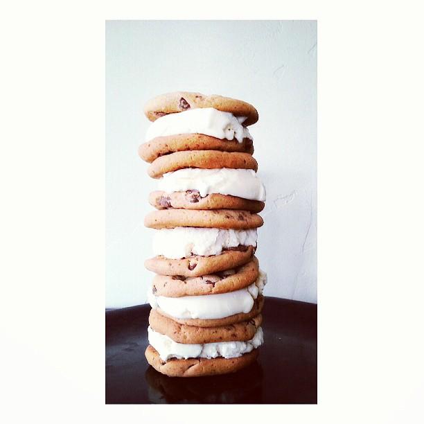 cookie ice cream sandwich instagram photo by zphotojunkie07