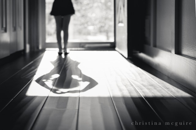 black and white silhouette ballerina by Christina McGuire