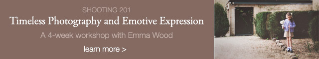online photography workshop, timeless photography and emotive expression by Emma Wood