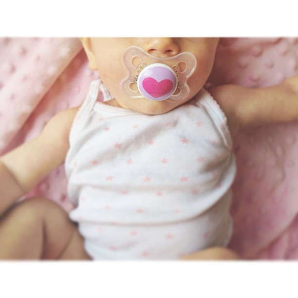 baby and pacifier instagram picture by karadeyoung