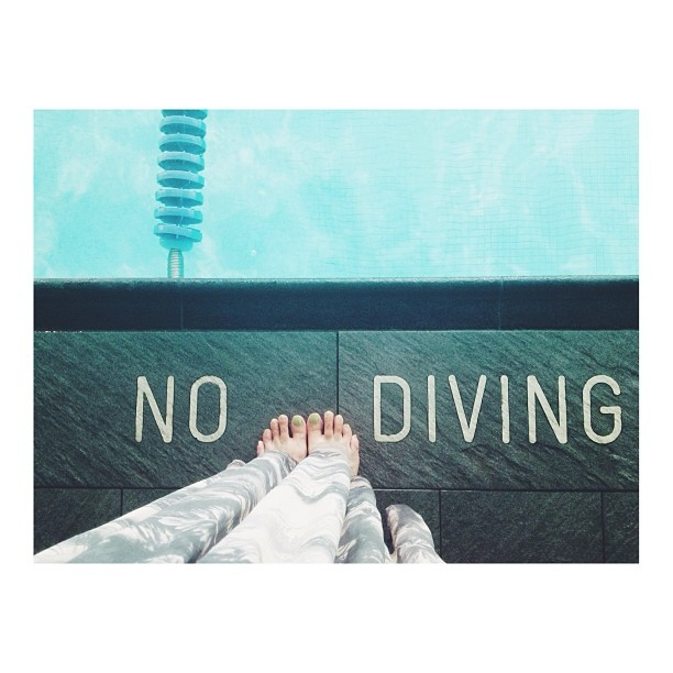 no diving instagram photo by roxiestardust