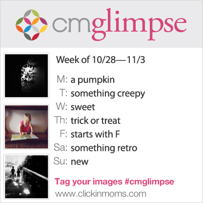 CMglimpse instagram photography project prompt list for Oct 28th through Nov 3rd
