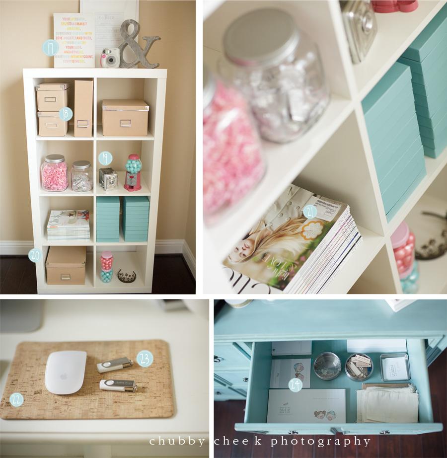 desk area of photographer Shalonda Chaddock of Chubby Cheek Photography