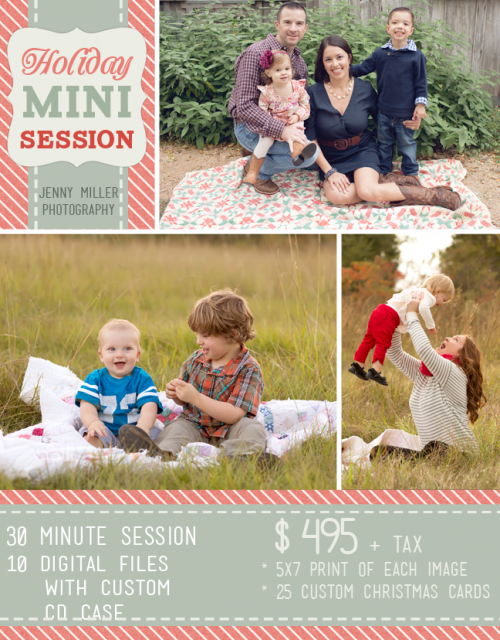 fall mini session promo by photographer jenny miller