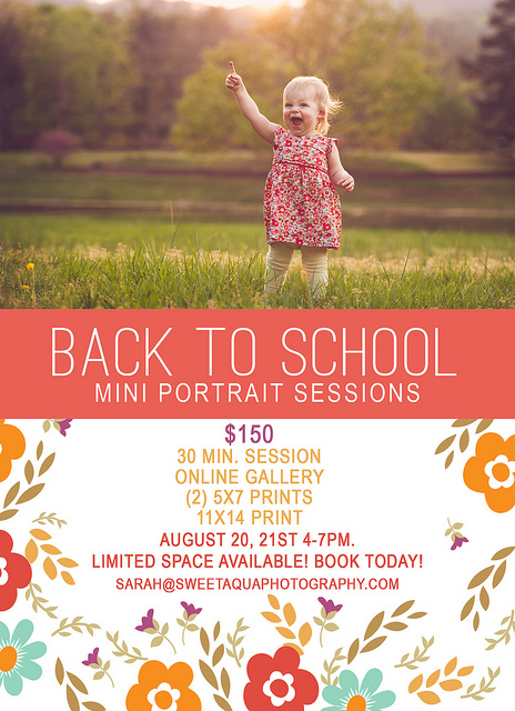 fall mini session promo by photographer sarah morris of sweet aqua photography