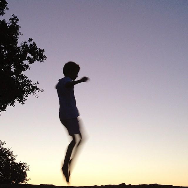 jumping silhouette instagram photograph by kmledford