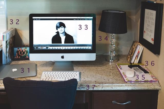 office area of photographer Lisa Benemelis