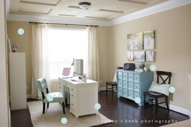 office space of photographer Shalonda Chaddock of Chubby Cheek Photography