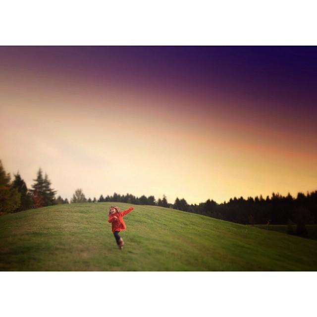 running in a field instagram photograph by kirafaris