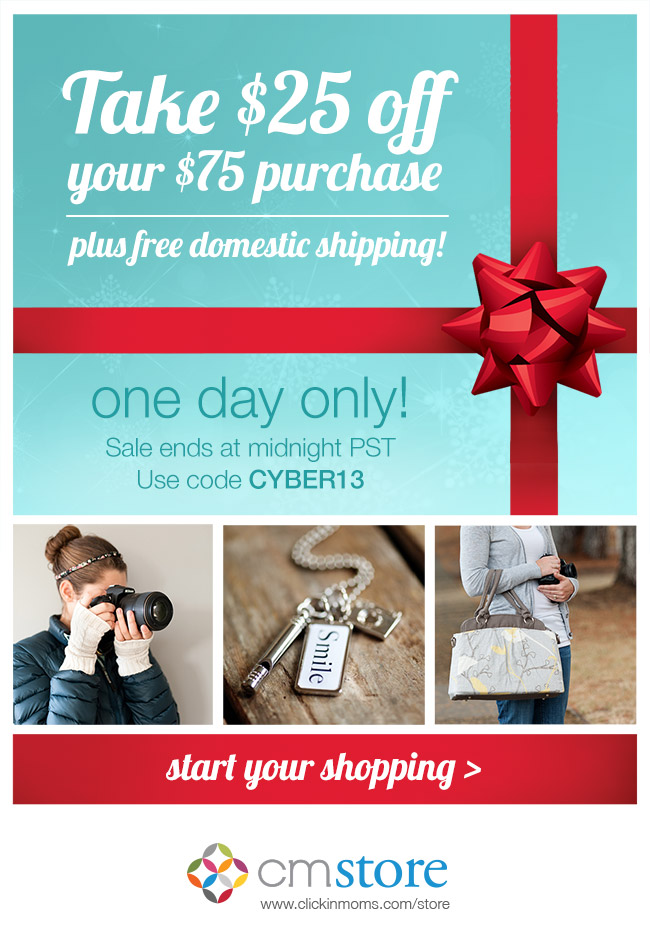 Cyber Monday sale for photographers from the Clickin Moms store