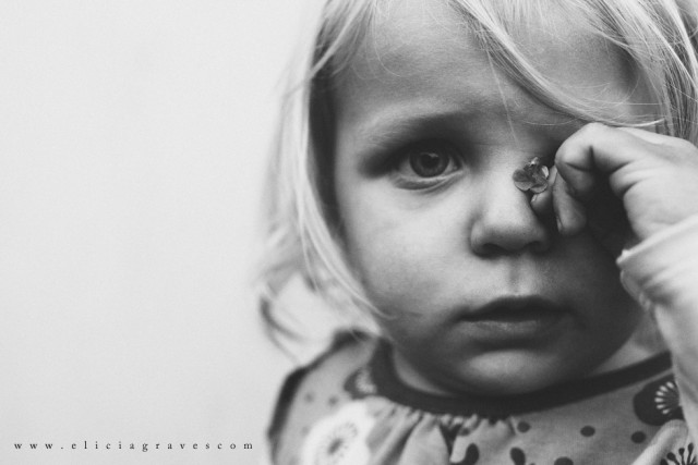 black and white child photography by Elicia Graves