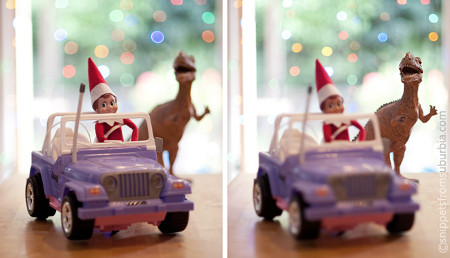 elf on the shelf photography and ideas from Allison Zercher of Snippets from Suburbia