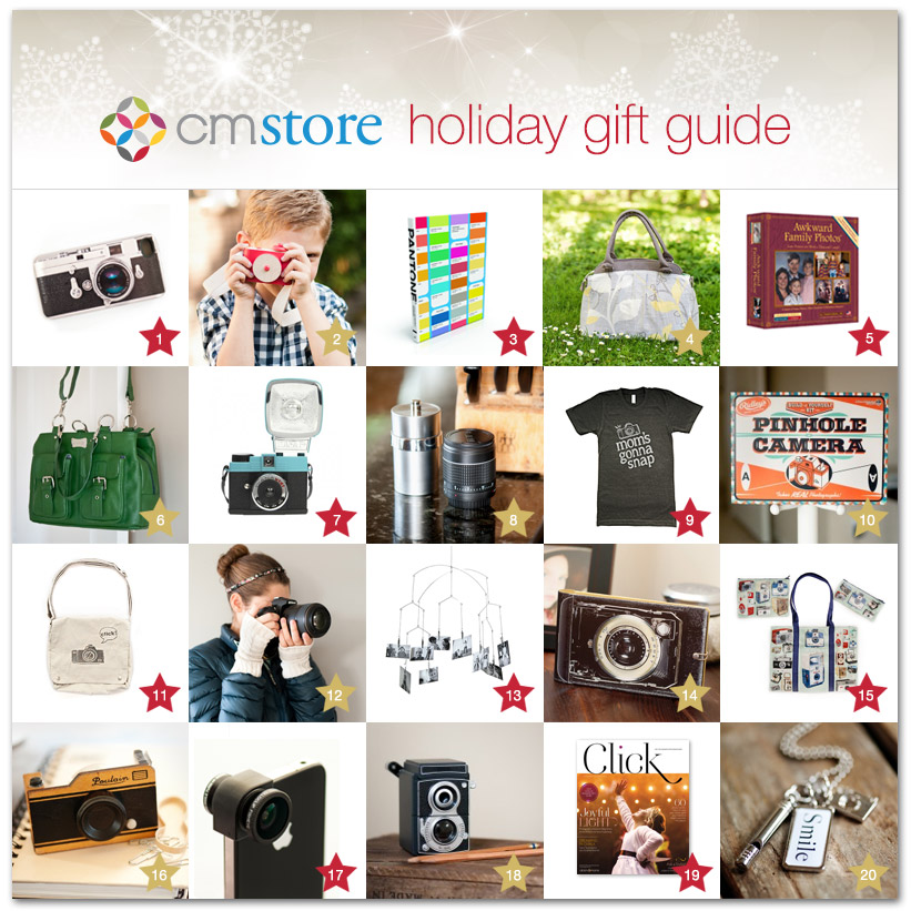 holiday gift guide for photographers from Clickin Moms