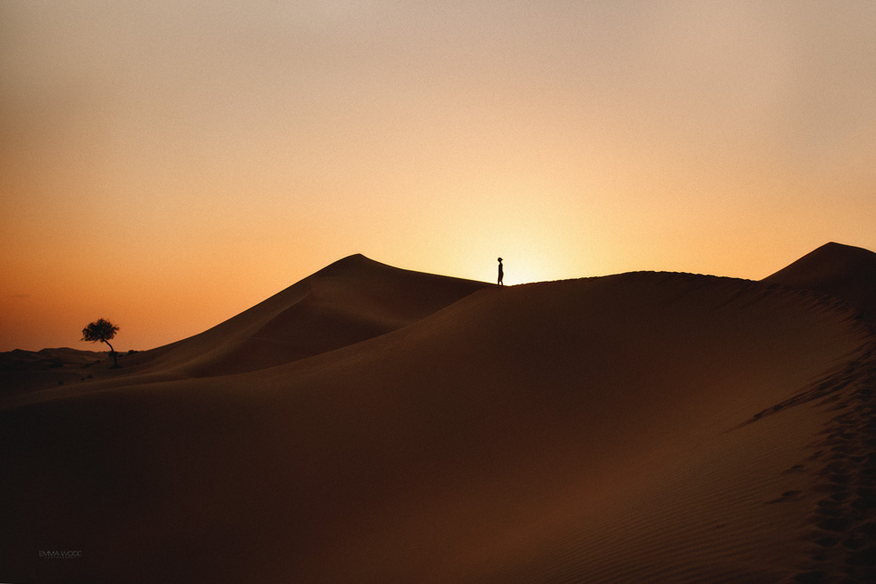 sunset landscape desert photograph by Emma Wood