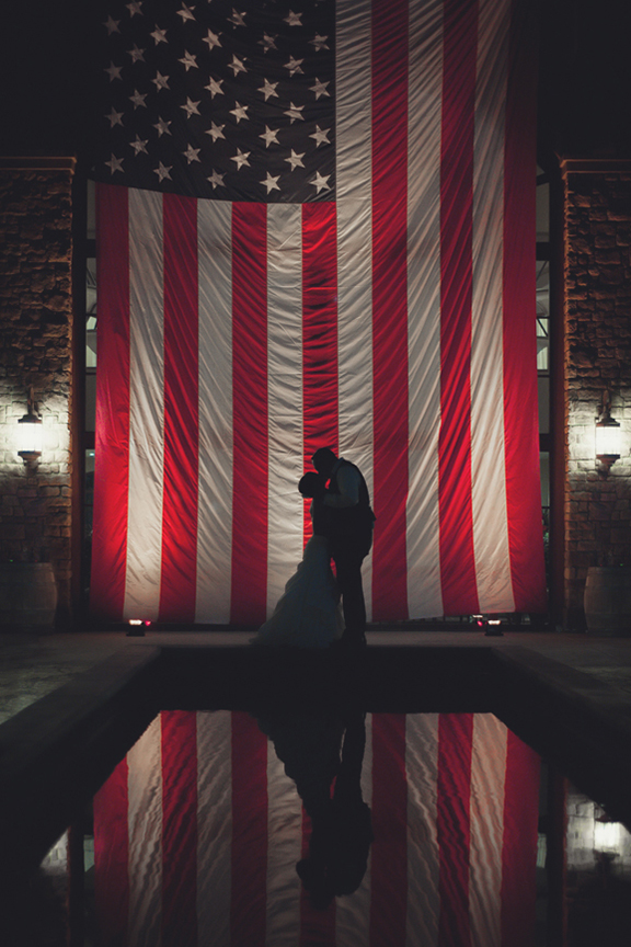silhouette-wedding-portrait-with-American-flag-by-Allison-Zercher