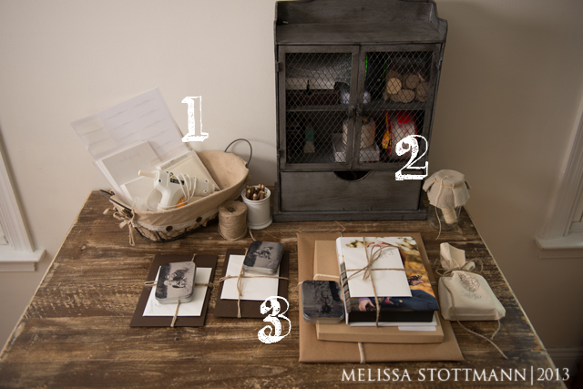 the packing station of photographer Melissa Stottmann