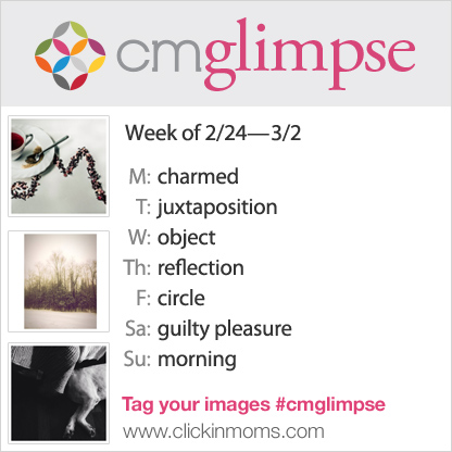 CMglimpse Instagram photo project prompt list for Feb 24