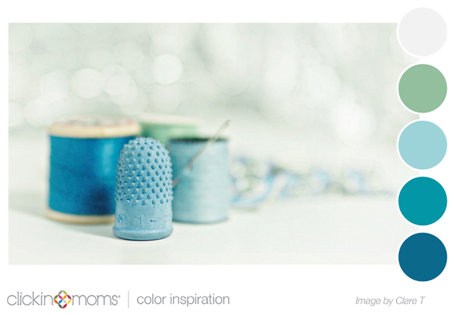 blue and green color palette inspiration from Clare T