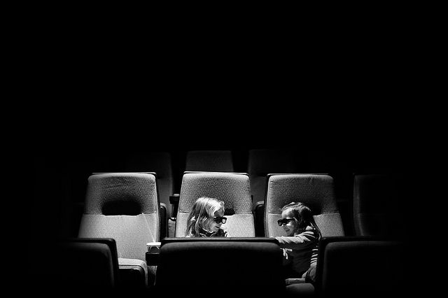 watching a movie photo by Melissa Gibson