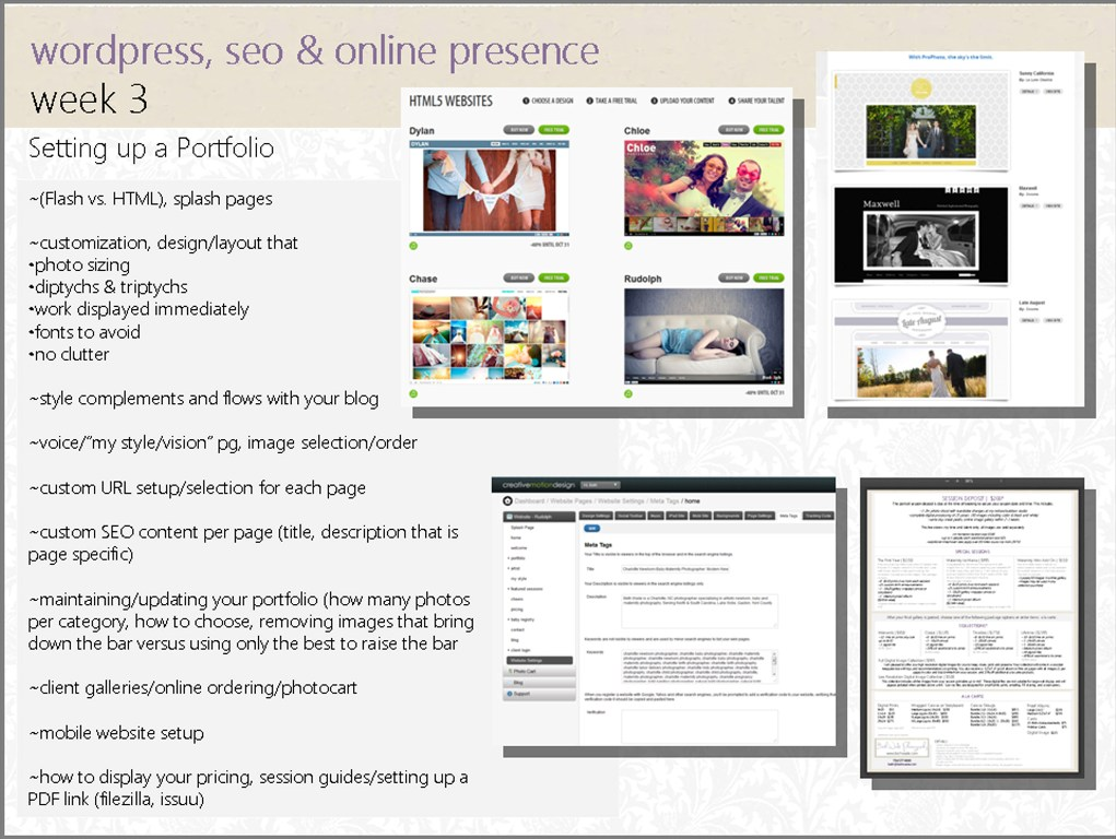wordpress seo and oline presence online workshop by Beth Wade for Clickin Moms 4