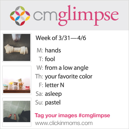 CMglimpse photography project Instagram prompts for March 31