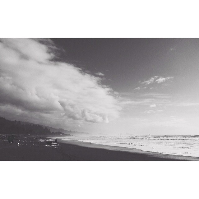 black and white beach photo by lisarenee93