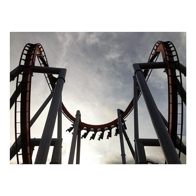 roller coaster instagram photograph by michellehebertphotog