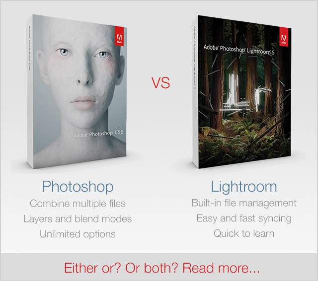 lightroom or photoshop for editing pictures by Caroline Jensen