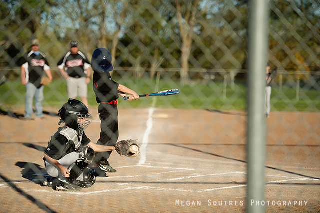 using a fast shutter speed when taking baseball pics by Megan Squires