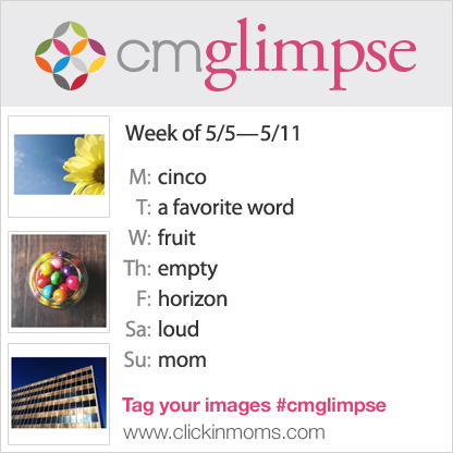 CMglimpse instagram photo project prompt list for May 5