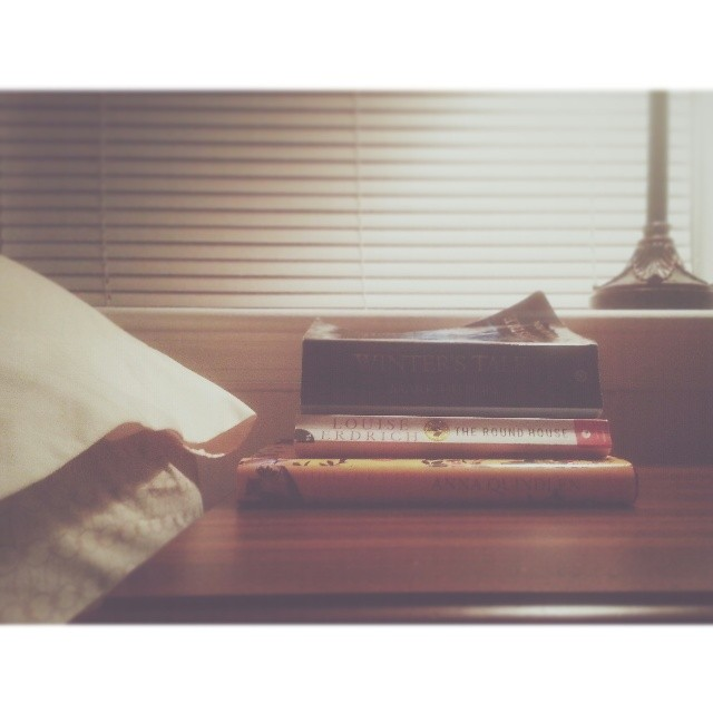 books on nightstand instagram photograph by terri_c_79