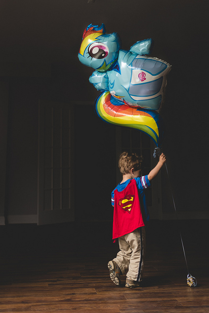 superman and my little pony balloon by chrissywichman