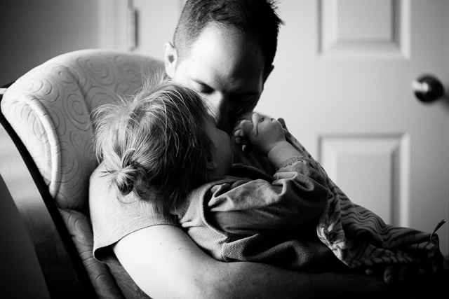 dad and child snuggling picture by Kristy Dooley