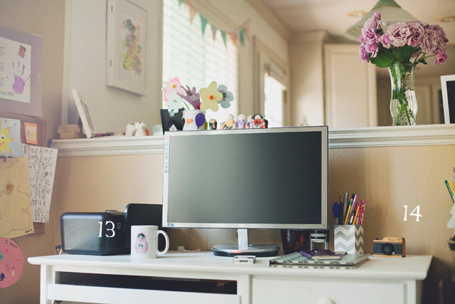 desk space of photographer Heather Lazark