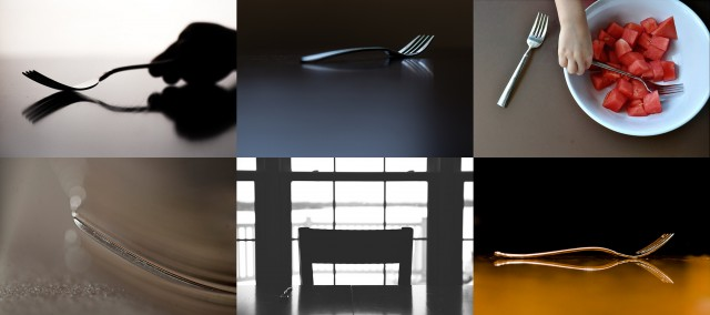photographing forks