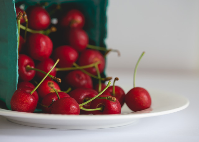 plate of cherries picture by Kristy Dooley