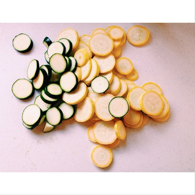 sliced squash and zuchinni instagram pic by momwifephotog