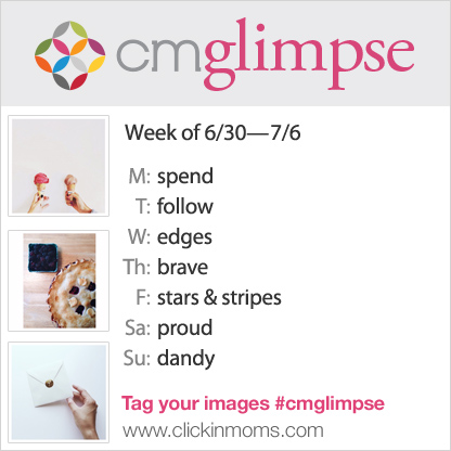 CMglimpse Instagram photo project prompt list for June 30