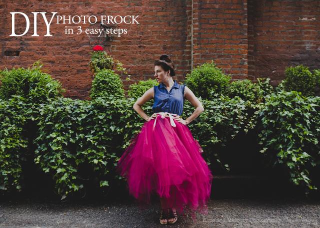 DIY photo frock in 3 easy steps tutorial by Sarah Vasquez