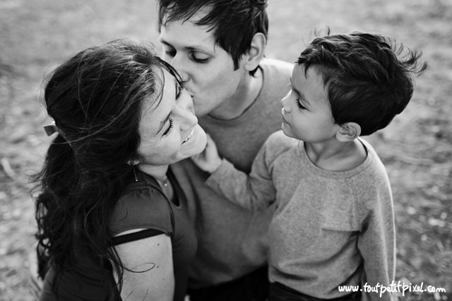 family portrait in black and white by Lisa Tichane