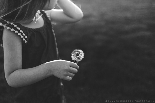 girl holding dandelion photograph by Summer Murdock