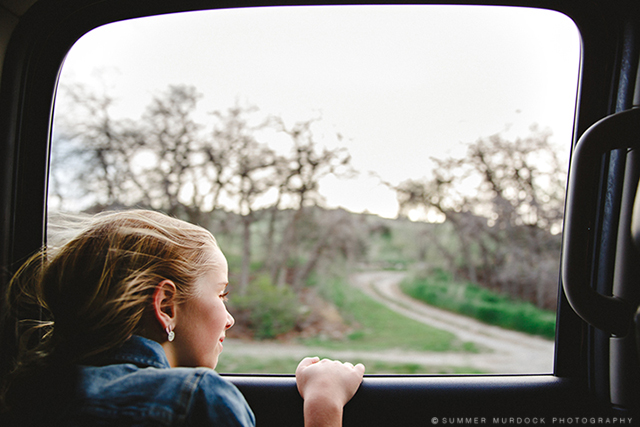 girl looking out car window pic by Summer Murdock