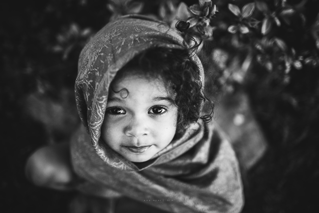 little girl portrait from above photograph by Ana Myer